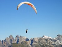 paragliding on the Alps