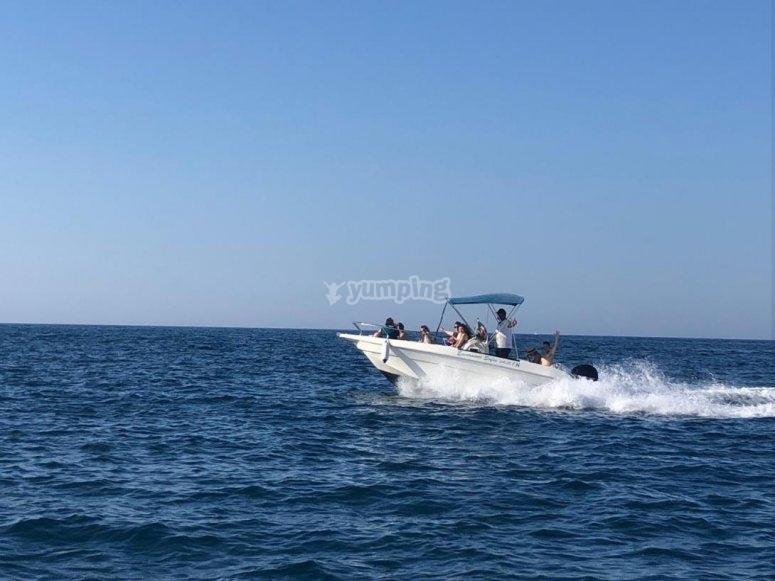 excursion in the sea of Puglia