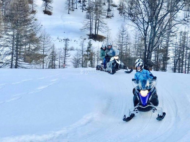 excursion on the snow