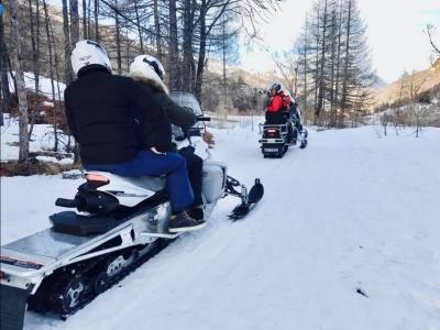 Tour in motoslitta a Pragelato per coppia 1ora