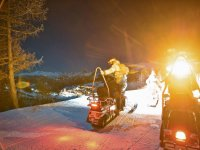 Dinner for children with snowmobile from Sestriere 3 hours
