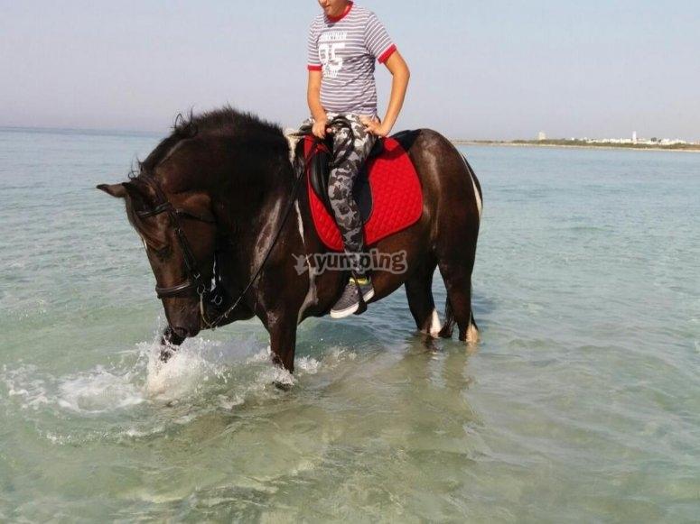 bimbi a cavallo