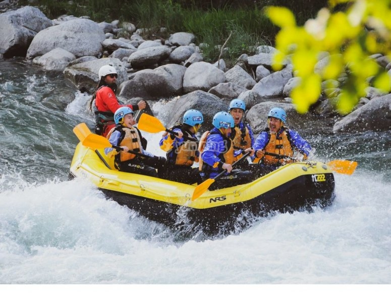Rafting on the river Noce.