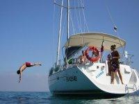 Boat excursion for children Finale Ligure 8 hours
