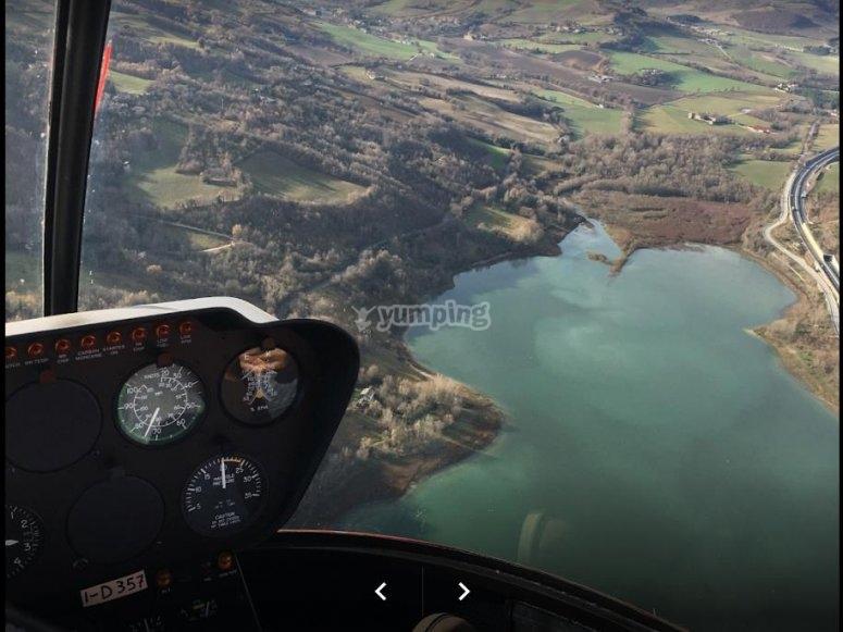 in elicottero in Emilia