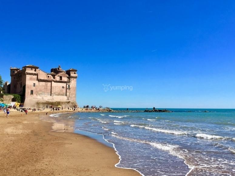 One of the glimpses of the Lazio coast.