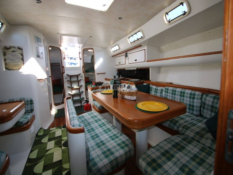The interior of one of our boats.