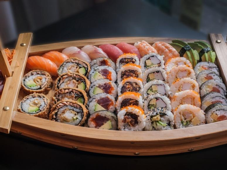 Sushi on a sailing boat.