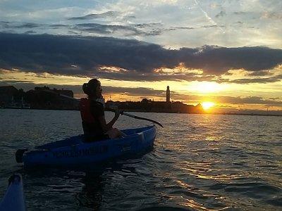 Tour notturno in kayak a Venezia di 1 ora e 40