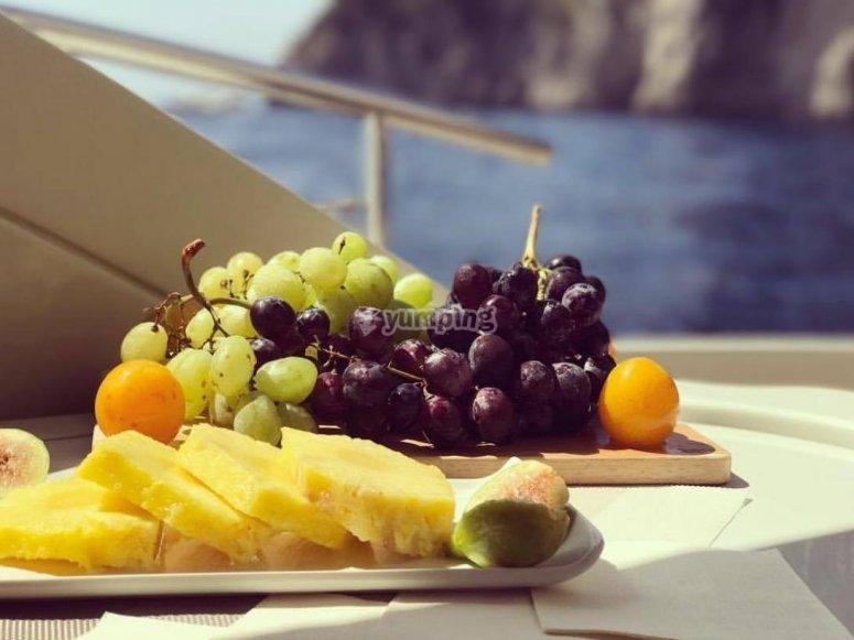 fruit aperitif on board