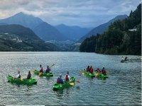 Canoa sul lago di Santa Giustina