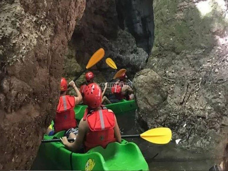 Canoa in gruppo