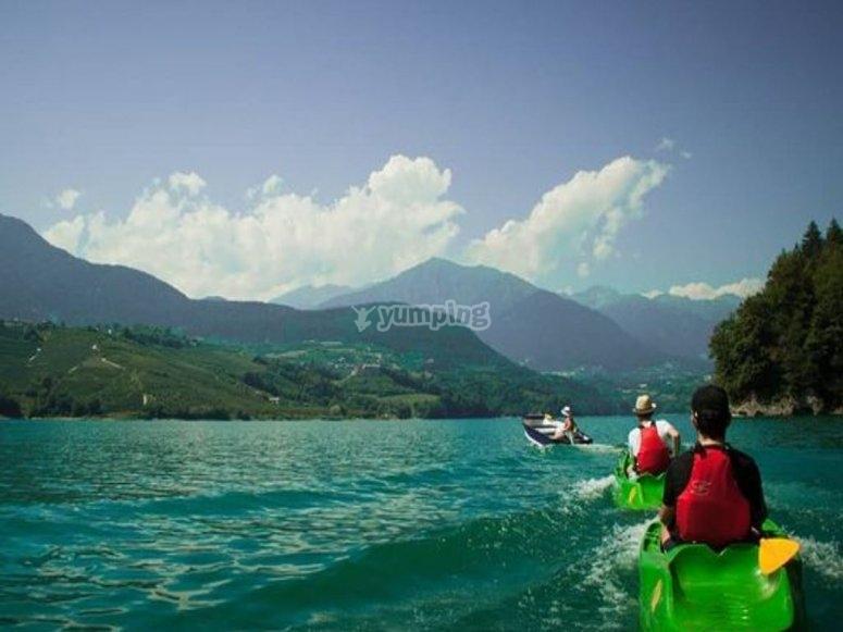 Sul lago di Santa Giustina