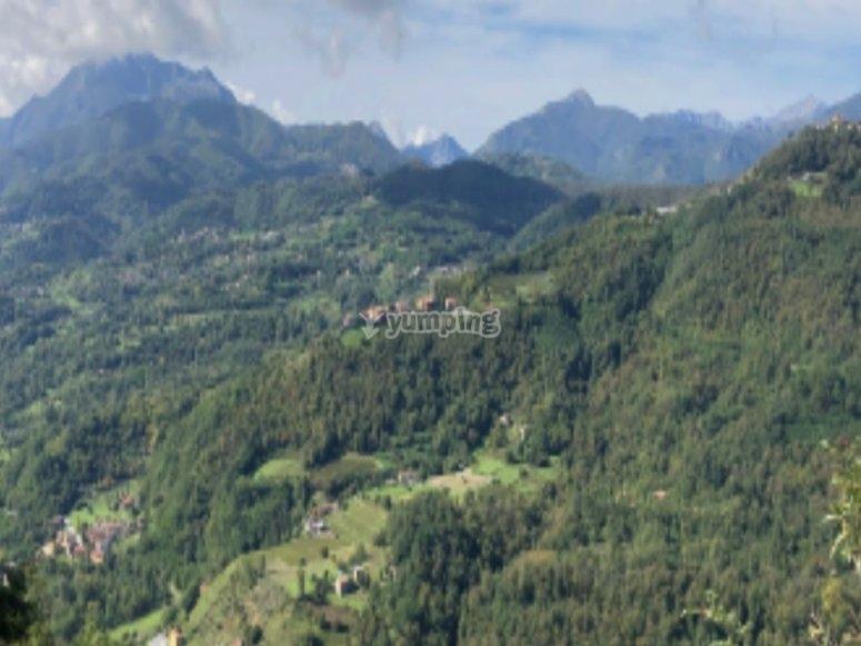 Il panorama durante l'escursione