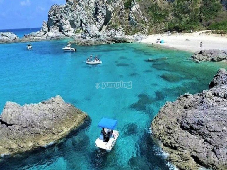 Una delle spiagge di Tropea