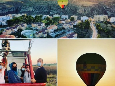 Hot air balloon flight for minors in Valle D'Itria 1 hour