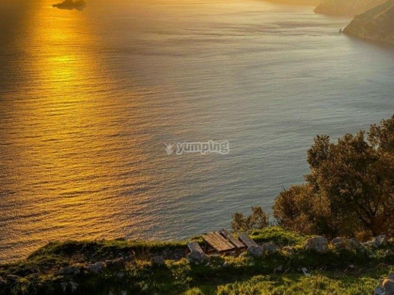 The sea of the Amalfi Coast