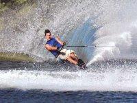 Water skiing in Taormina