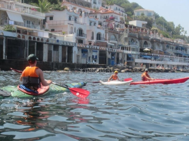kayaking in a group