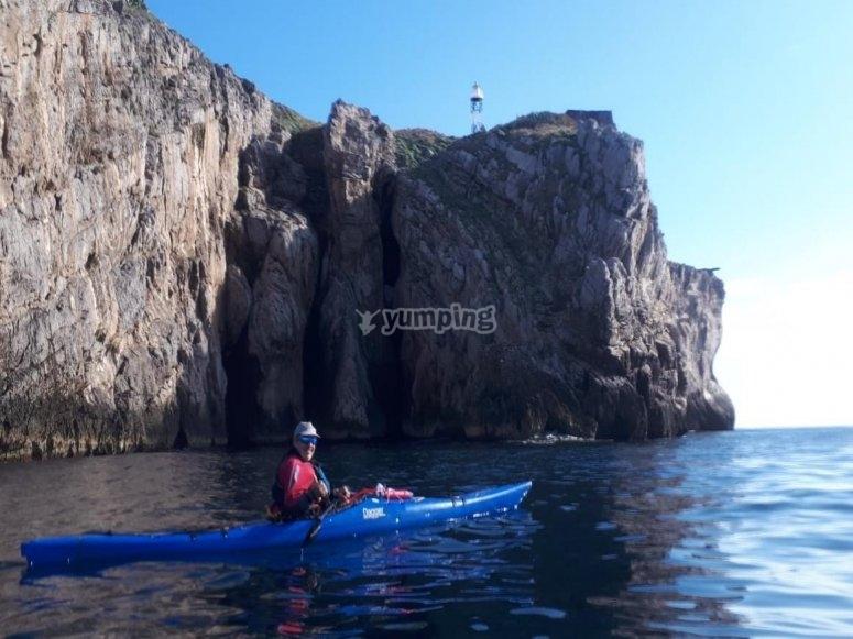 kayaking in campania