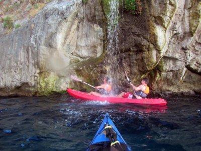 1 hour by kayak to the Cascatella di Massa Lubrense