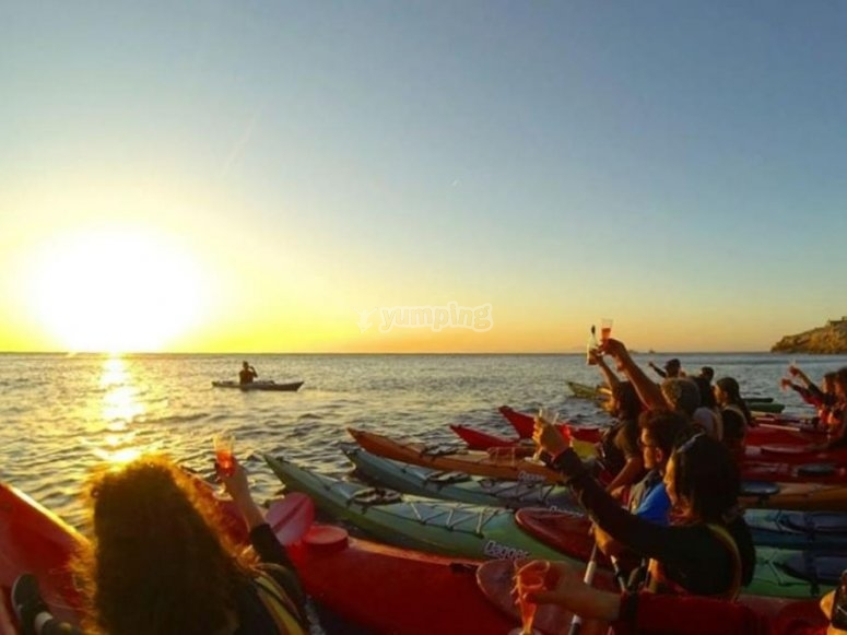 Group in kayak