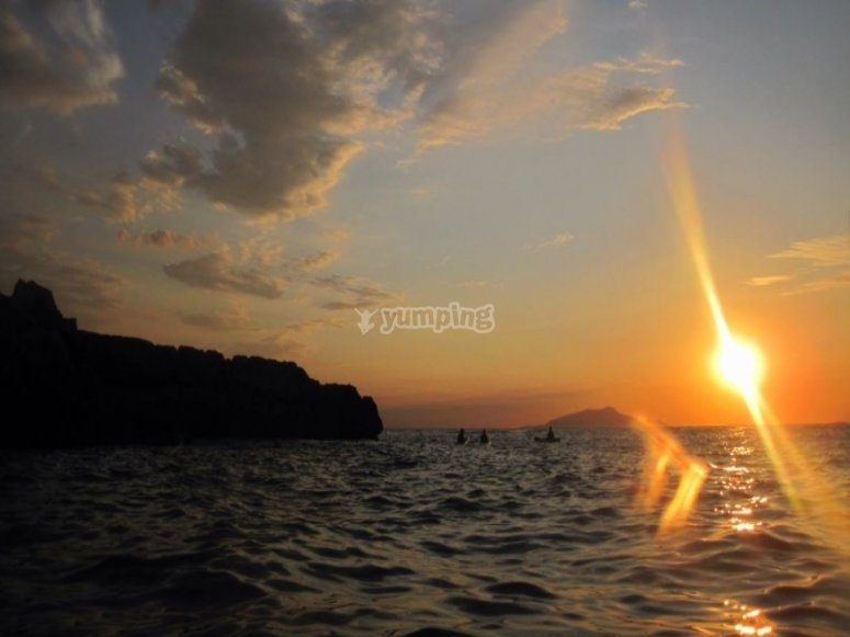 Tramonto in mare
