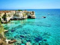 Crystal clear sea of Puglia
