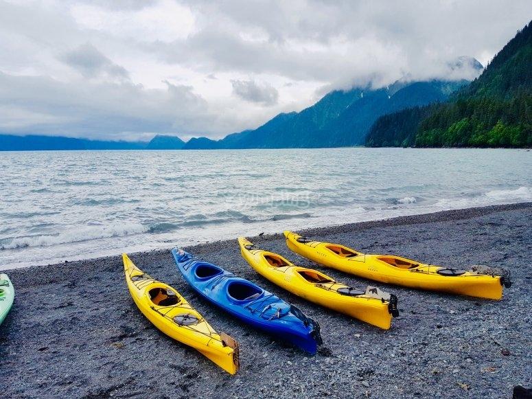 Alcune della nostre canoe