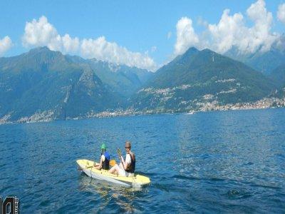 Noleggio canoa doppia sul Lago di Como di 2 ore