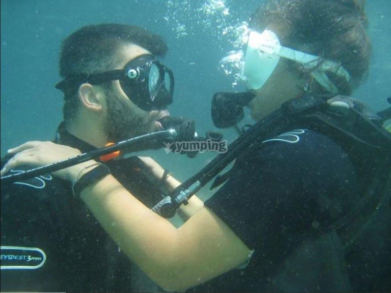 Diving in Polignano a Mare