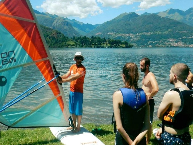 windsurfing lesson on lgo