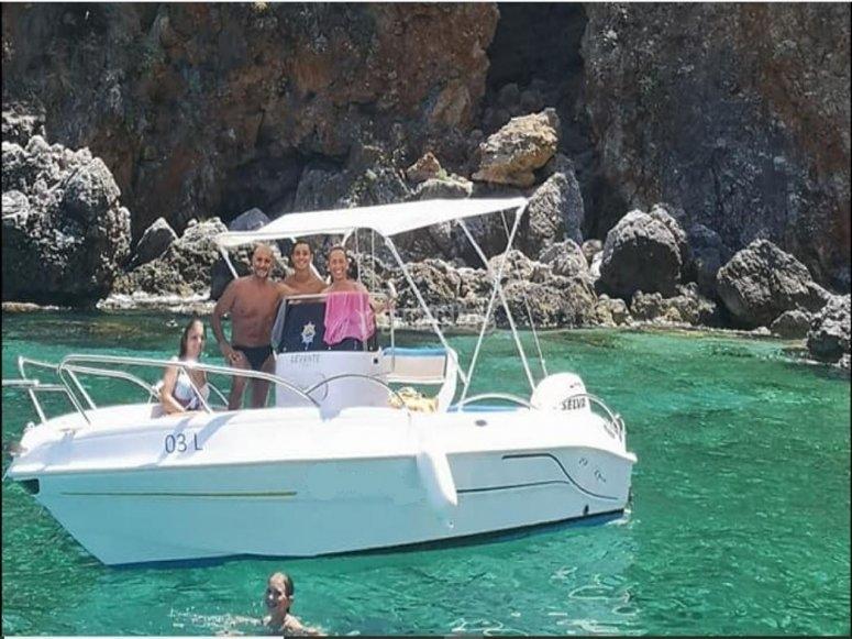 By boat in Sicily