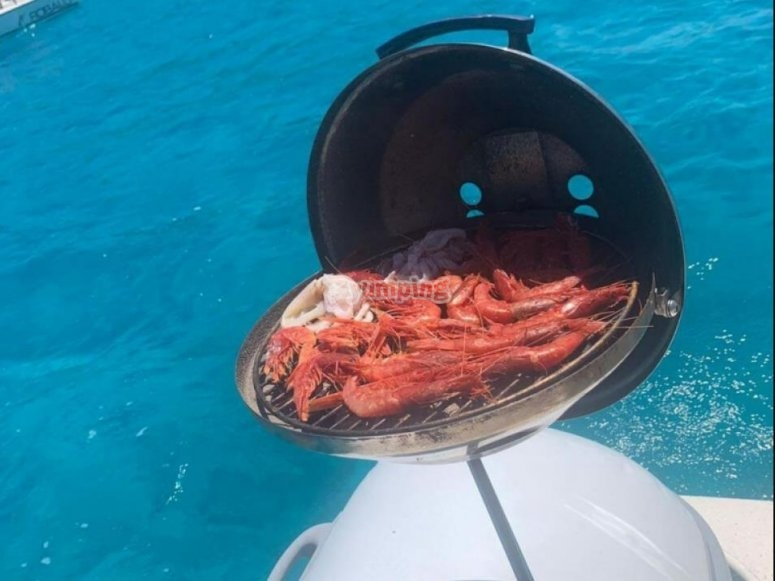 Grilled on board