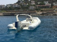 Dinghy rental with license in Addaura for 4 hours