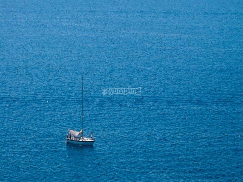 Sailing boat from Talamone