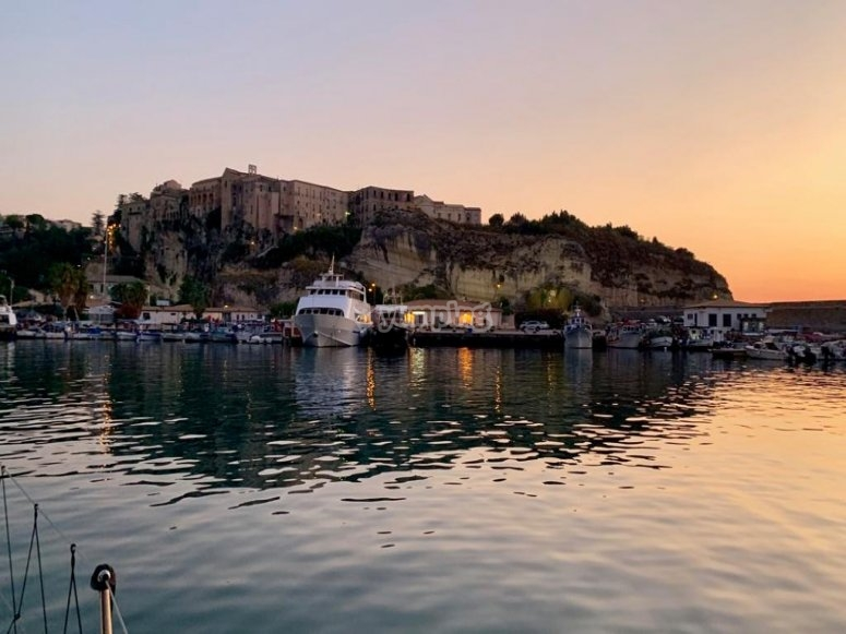 In the port of Tropea