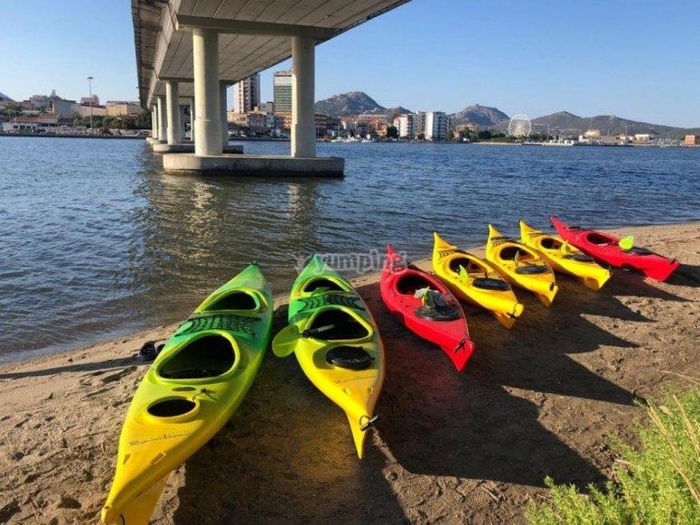 i nostri kayak vi aspettano