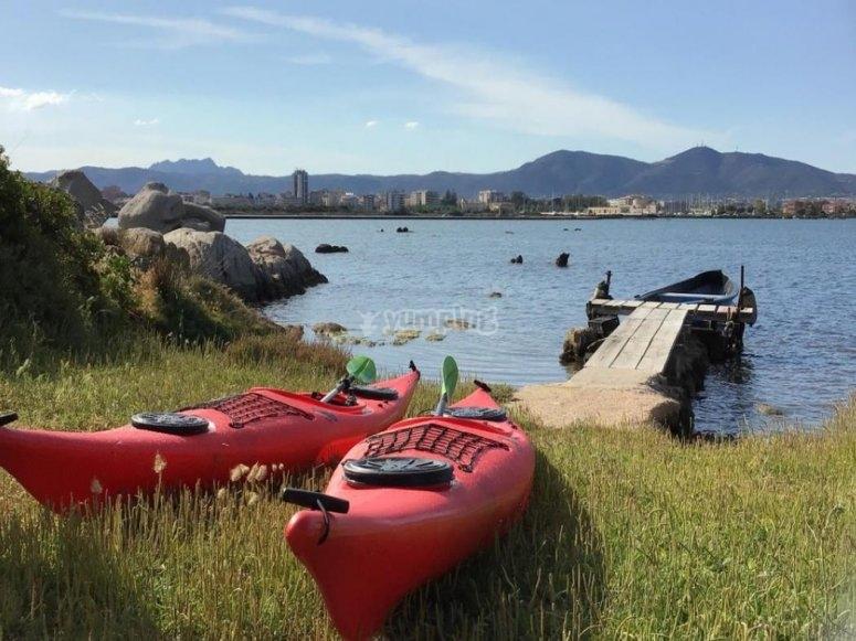 kayak nel golfo di Olbia