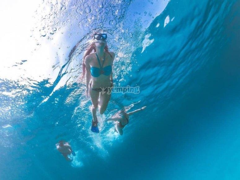 snorkeling in costa smeralda