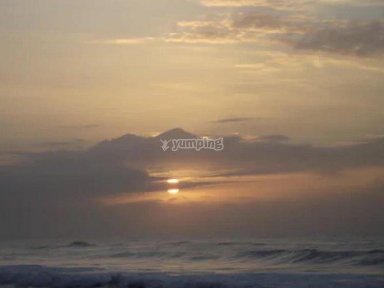 tramonto sul golfo di olbia