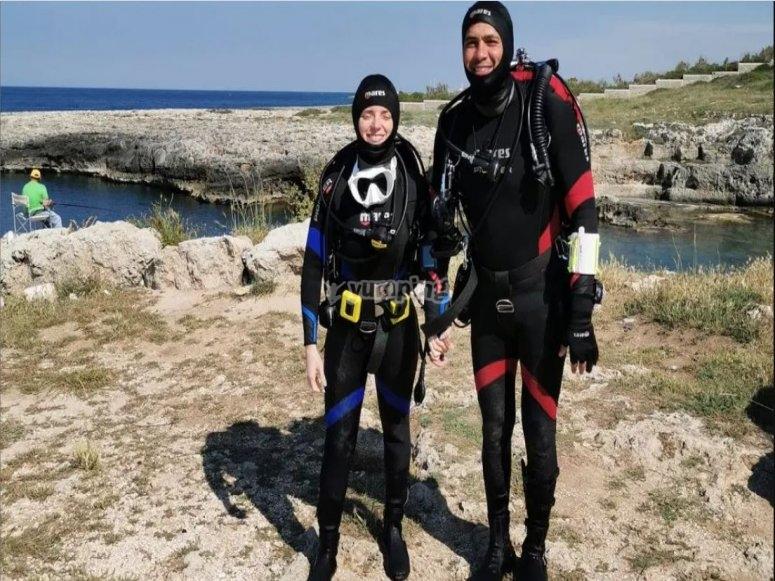 Diving course in Polignano a Mare