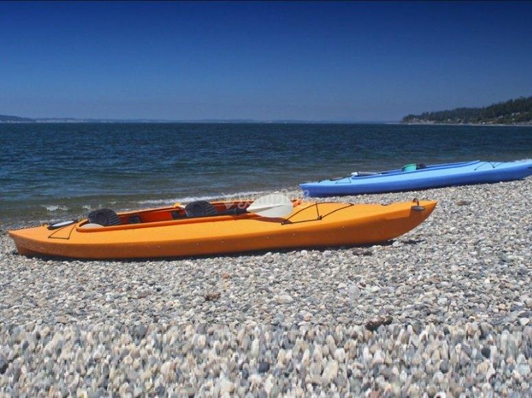 canoe on the beach