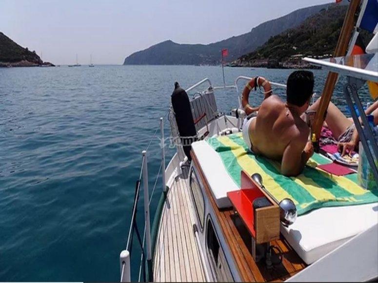 A bordo della nostra barca
