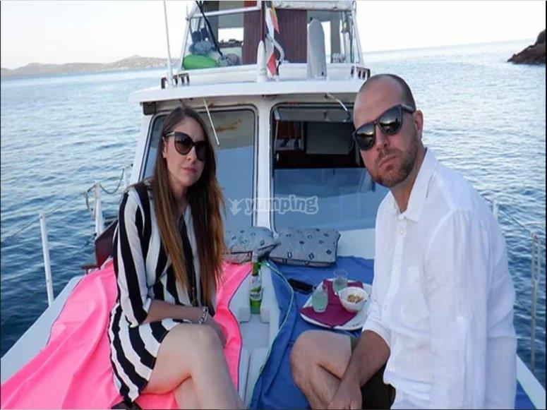 Esperienza romantica in barca