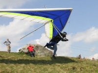 Take off in hang glider