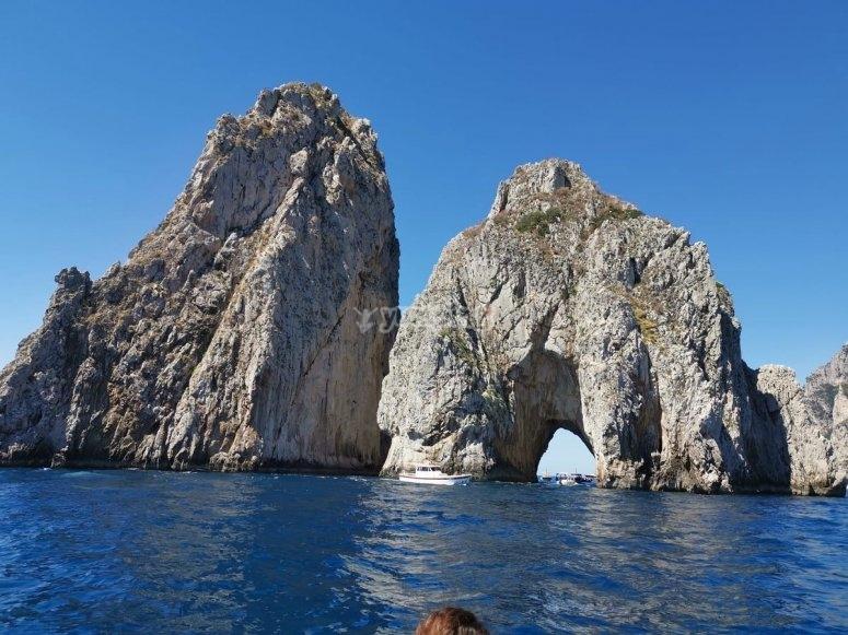 Near the island of Capri