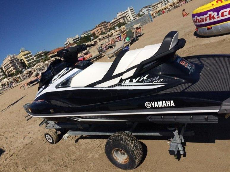 Moto in spiaggia