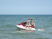 A Rimini in moto d'acqua
