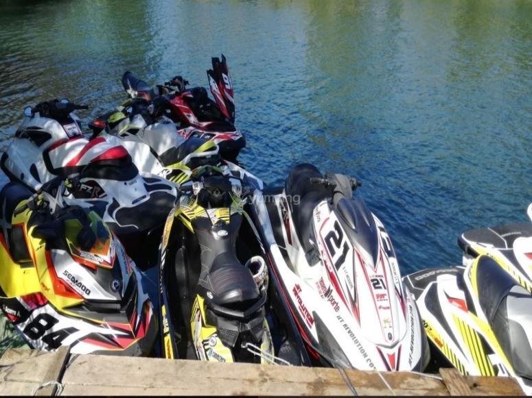 Jet ski in the lake